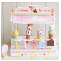 Wholesale Baby Toys Mother Garden Strawberry Wooden Ice Cream Shop Children Wooden Educational toys Play House Toy Gift