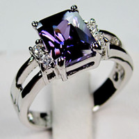 amethyst bands - Amethyst KT White Gold Filled Ring Lady s Finger Rings For Women Fashion Jewelry Size C1149
