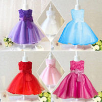 baby pictures flowers - flower girl dresses for wedding party baby high grade clothes princess dress girl birthday formal kids clothing