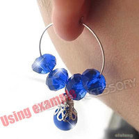 Wholesale New Iron Loop Earring Wire Ear Tools Jewelry Finding Fit Charms Dangle