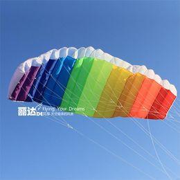 2.7 m two-lane software rainbow umbrella sport kites kite surfing umbrella