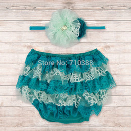Wholesale CB40806 aby Cotton Ruffle Bloomers Layers Baby Bloomers Diaper Cover Newborn Shorts Toddler Cute Summer Pants Photo Props