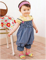 baby accessary - New Promotion Summer Spring Girls Classic Blue overalls Pants Baby suspender trousers Children Clothings accessary vestidos