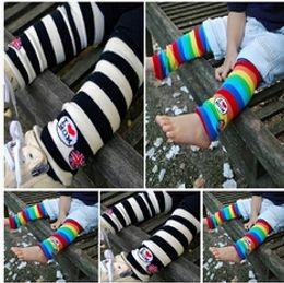 Wholesale Long Baby Boy Girls Infant Toddler Kids Rainbow Zebra Leggings Socks Leg Warmers Football Casual Autumn Wear