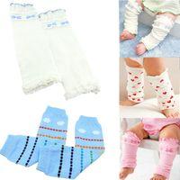 baby crawling leggings - 1 pair cotton baby legwarmer arm warmers spring and autumn thermal kneepad leggings crawling baby girs socks dropshipping