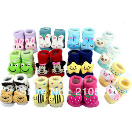 Wholesale S103 New Baby Girl Boy Cartoon Anti slip Socks Slipper Shoes Boots Warm Walking Socks Outdoor Shoes Month