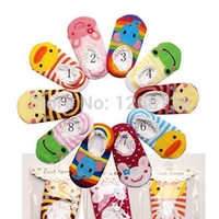 baby christmas slippers - Infant Toddler Baby Animal Cartoon Slipper Skid Sock Shoes Unisex Christmas gift FZ1410 HevS