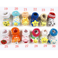 baby dimensions - Top Sale Colorful Cartoons Thick Warm Dimension Cubic Baby Child Infant Toddler Sock Sox Learning Walker Prewalker Free Ship