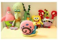aquatic snails - Price TV Figure plush toys Stuffed doll Sponge Bob Patrick Star Snail Plankton Octopus Krabs