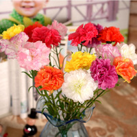 artificial carnations - 8color carnation silk flower artificial flowers Scrapbooking fake for Home Decorative wedding Decorations freeshipping