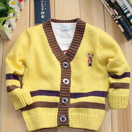 Wholesale-Free shipping Autumn Winter Baby Cartoon bear sweater Kids cute pullovers cool tops Baby clothes