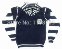 baby loss - Autumn winter baby Boys loss promotion knitted sweaters High quality children fashion lapel sweaters age T baby kids clothing