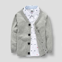 Wholesale New arrival Kid s Boy s Brand Cardigans Years old Children Cotton Solid Sweatercoat