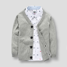 New arrival Kid's Boy's Brand Cardigans 2-12 Years old Children Cotton Solid Sweatercoat