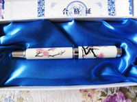 porcelain - Plum Flower Hardback Fountain Pen China Blue and white porcelain Crafts Office Gift Pens Free