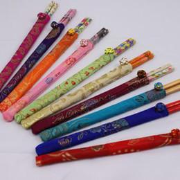 Wholesale Lucky Silk Chopstick Home Chopsticks Bamboo Chopstick China Craft Chopstick Pack pair mix Free
