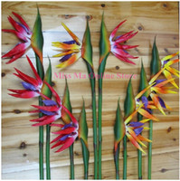 artificial bird of paradise - Bird Of Paradise Big PU Real Touch Flower Decoration Artificial Flowers Wedding Flower Hotel Shopping Mart Party