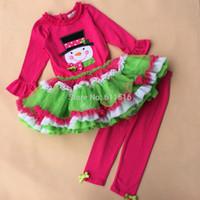 Cheap Super Nice High Quality 3-6 Rare editions Girls Sownman Christmas 2 PCS Set Tutu Dress Tights Costume Free shipping