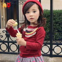 Wholesale AD Lovely National Style Sweaters Children Age T shirts Kids Winter Autumn Basic Blouse Cotton Shirt Clothes Brand Clothing