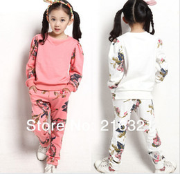 Wholesale Package Broken beautiful virgin suit Two suits girls spring model clothing set girl dress tracksuits