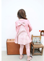 baby blouse design - Korea baby girl suit sets Long sleeves blouse with rabbit laces long pant Bowknot design girl suit New arrive