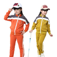 beauty knitted clothing - Children Suit New Fashion Autumn Girls Clothing Sets Beauty Cotton Knitted Cozy Sports Suit