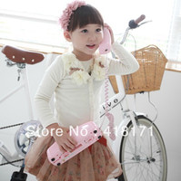 Wholesale New flower baby girl s cardigans children coat outwear long sleeves shoulder with flower decoration