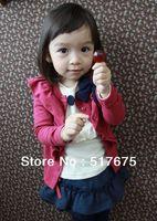 big bow cardigan - Sale Spring Big Bow Flower cardigans girls baby kid long sleeve tops outwear princess shirts A01024