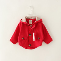 babies greatcoat - 2015 Autumn Baby Girl Trench Coat Casual Long Sleeve Solid Color Coat Cute Fashion Children Glengarry Jacket Greatcoat