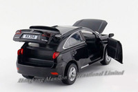 Wholesale 1 Scale Alloy Diecast Metal Car Model For LEXUS RX350 Collection Model Pull Back Toys Car With Sound amp Light Black Red White