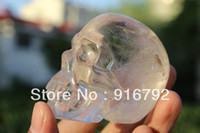 quartz crystal skull - free P amp P Tibetan clear Quartz Rock Crystal Skull Carving