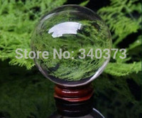 asian car safe - ASIAN Chinese Craft QUARTZ Clear Crystal Ball Sphere mm stand