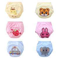 Wholesale 6 Styles cartoon print Character waterproof cotton potty training pants Children s diaper pants Baby underwear