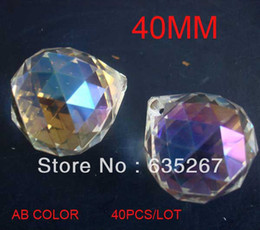 Wholesale 4PCS AB COLOR mm crystal faceted ball crystal chandelier ball parts for wedding amp fengshui products X MAS decoration