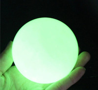 Wholesale Crystal Mineral Wholesalers - 2pcs lot Natural luminous ishihara specimens of mineral crystal luminous ball fluorescent pearl jewelry gift 35mm