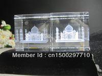 laser engraved crystal - New creative cm D laser engraved Crystal image building Series Taj Mahal model souvenir gift home decoration