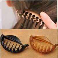 banana hair clamp - 6203 Pony Pouf Hair Clip Half Ponytail Holder Banana Hair clamp Hair claws hairgrips