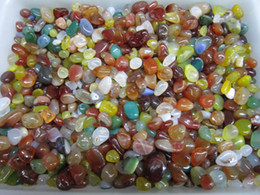 Wholesale Natural crystal colorful agate fish tank aquarium decoration gravel flower crystals pot magnets pillow stonefeng shui stone