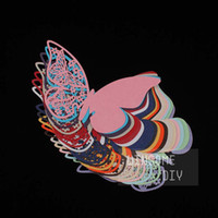 beautiful place cards - 100pcs Laser cut Pretty Wedding Butterfly Glass Place Card beautiful Glass decoration place cards BKHD005