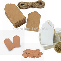 antique scrapbooking - Antique Kraft Paper Gift Tags With Swirl Edges For Wedding Decoration Making Scrapbooking Paper Crafts