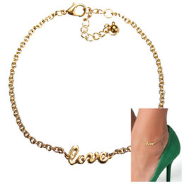 Wholesale-Stylish Love Charm Simple Elegant Sexy Anklet Foot Chain Anklets Ankle Bracelet Wholesale Free Shipping