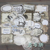 age cut - Handmade Vintage industrial age pre cutting paperboard titles tags quotes to decorate DIY Scrapbook Accessories sets