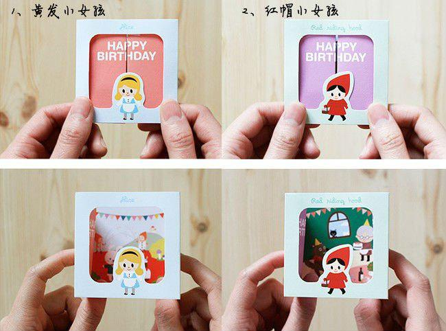 2017 Cute Girl 3d Greeting Cards Envelopes Valentine Greeting – Wholesale Valentine Cards