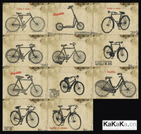 bicycle greeting cards - Vintage Bicycle postcard set Vintage Greeting Cards gift cards Vintage Korean Stationery