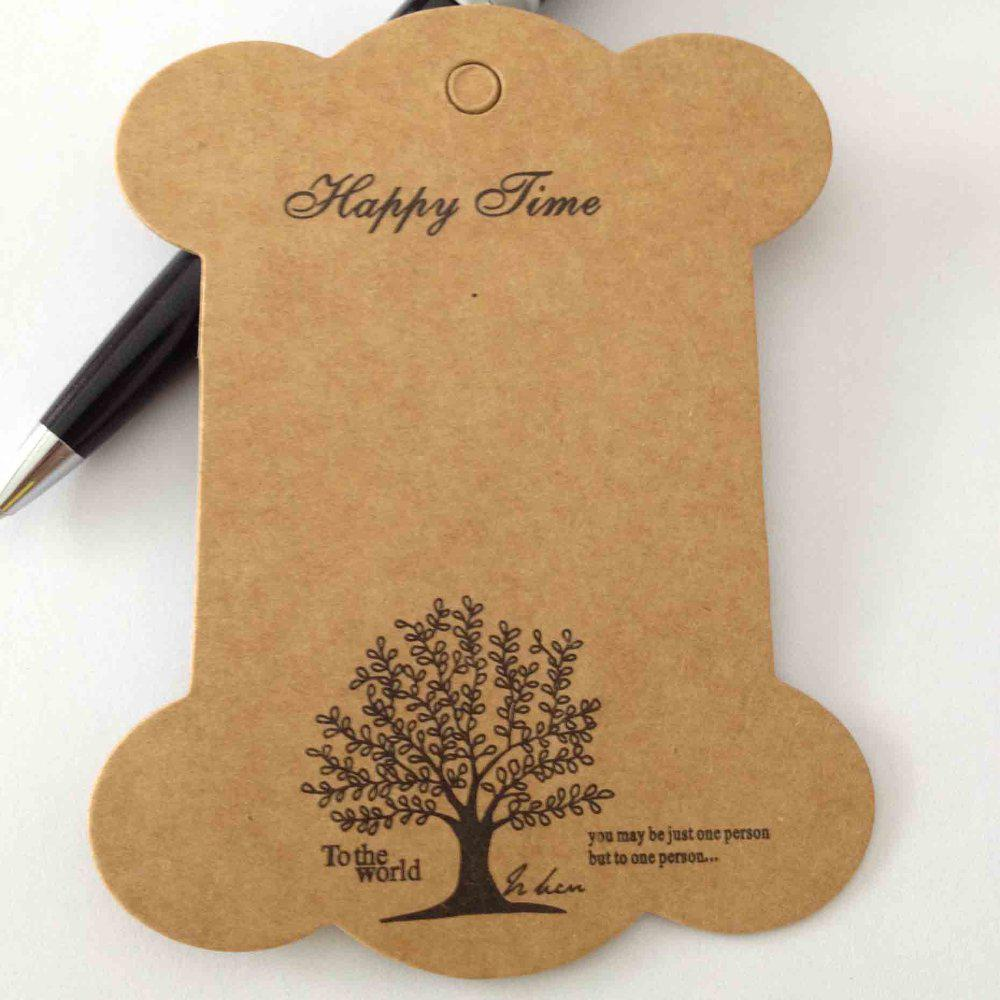 online cheap diy zakka thickening kraft paper board label tag online cheap diy zakka thickening kraft paper board label tag bookmark shape tree printed ribbon collection by amarylly com