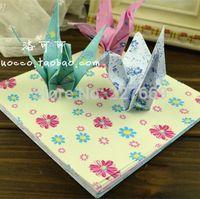 beautiful origami flowers - Mixed color Creative pastoral beautiful flower design papercranes origami materials children handmade paper CM