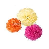 Wholesale 10pcs inch cm Colors Tissue Paper Poms Flower Ball for Wedding Decoration