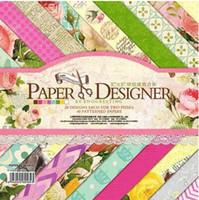 art photo albums - JT02 Colorful Flower Decorative Scrapbooking Kit DIY photo album background Art paper of sheets