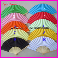 Wholesale 50 Chinese paper fan wedding fan hand fan