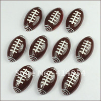 american crafts scrapbooking - Bulk American Football Sports Resin Cabochon Flatbacks Flat Back Scrapbooking Hair Bow Making Embellishment Craft DIY
